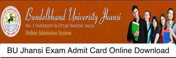 Bu Jhansi Admit Card 2020 Download Ba Bsc Bcom Name Wise Name Wise Cards Jhansi