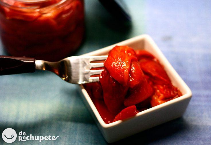 Cómo asar pimientos. Receta en la que recomiendo utilizar los pimientos rojos, llamados