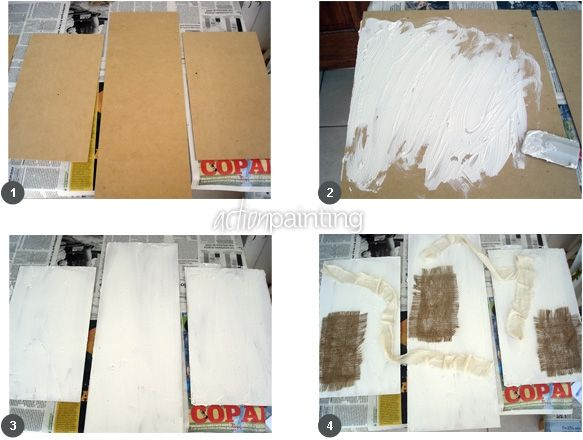 M s de 1000 im genes sobre manualidad marcos y cuadros en - Como hacer cuadros abstractos modernos ...