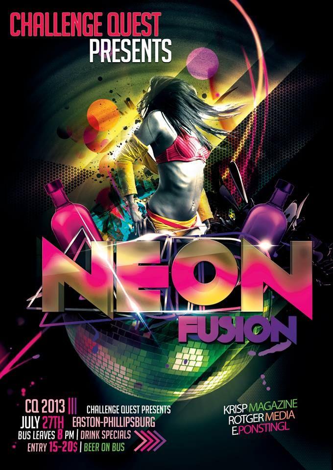 Neon Fusion Flyer  https://www.facebook.com/LVChallengeQuest