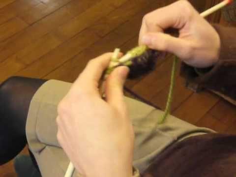 Cours de tricot 7 - rayures de couleur - YouTube