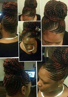 Ghana braids with Senegalese twist by Darlean Thickyd Green