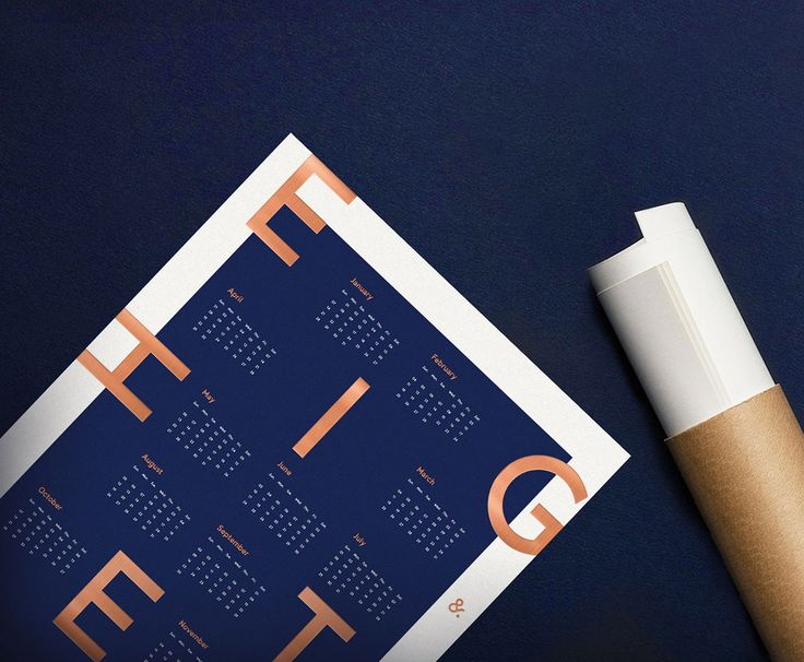 The new limited edition 2018 Letterpress Calendar Poster by Type & Face See more: http://mindsparklemag.com/design/2018-letterpress-calendar-poster/  More news: Like @Mindsparkle Mag on Facebook