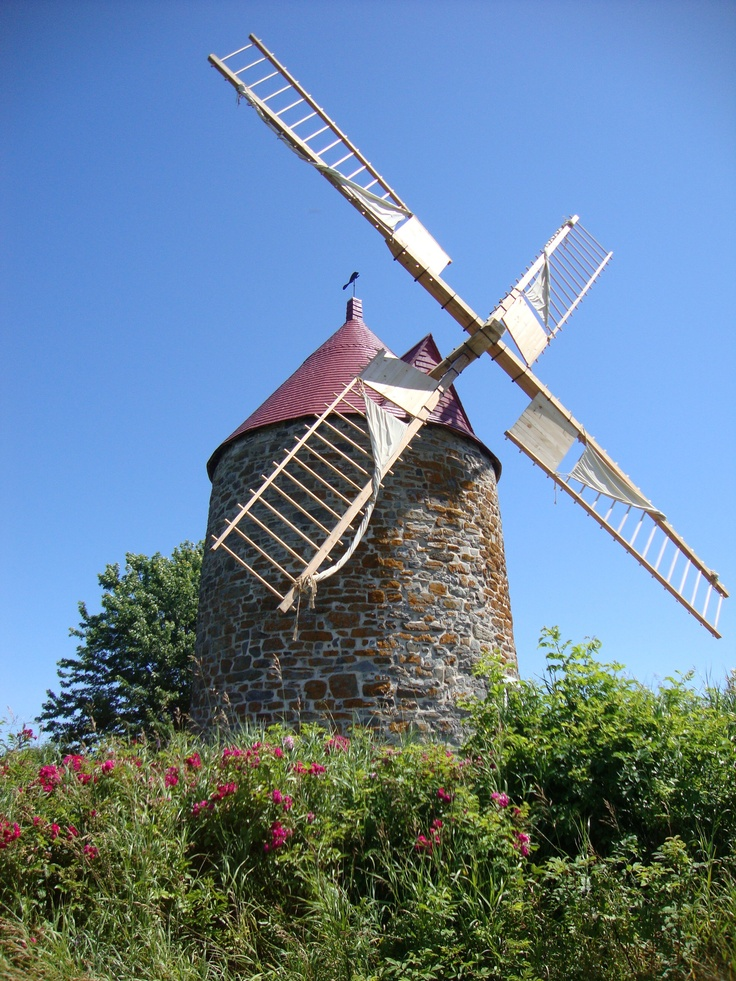 Windmill in Iles-aux-Coudres, Quebec