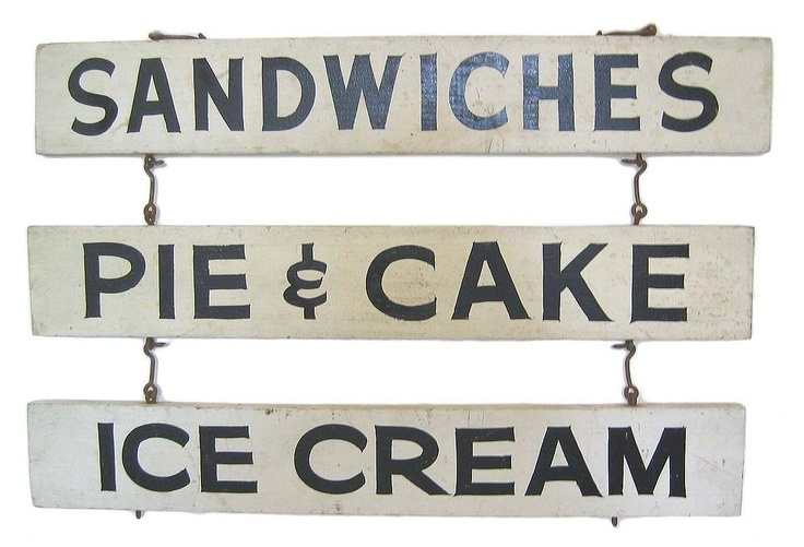 Vintage diner signs - I would love to make these and hang them outside in my backyard!: Country Cottages, Vintage Diners Signs, Vintage Signs, Cafe, Products, Diners Driving, Coffee Dessert, Motel Signs, Roadside Diners