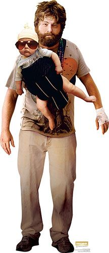 The Hangover - Alan Garner - With Baby Lifesize Cardboard Cutout