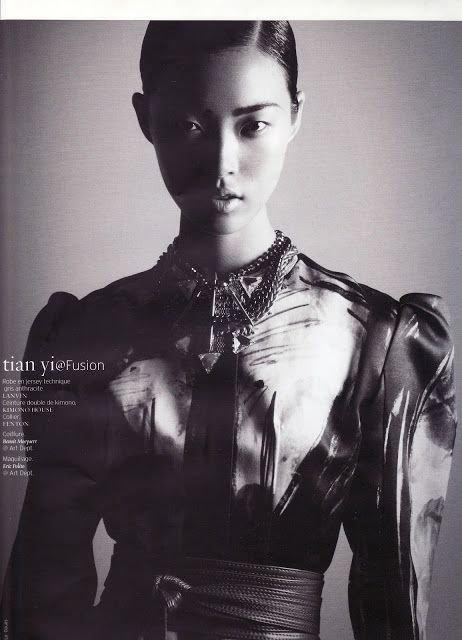 Fusion Models NYC: Chrystal Copland and Tian Yi for French Revue de Modes