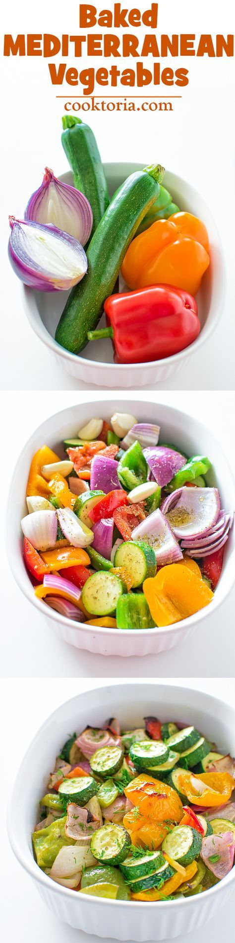 A succulent combination of bell peppers, onion and zucchini baked to perfection with Mediterranean spices! This is a must-try vegetable side dish! ❤ COOKTORIA.COM