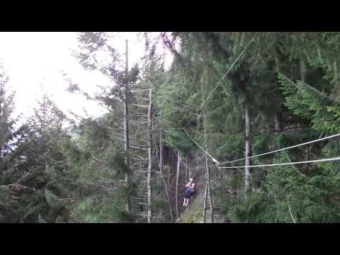 Zip line at ZipTrek Eco Tours - Part 5