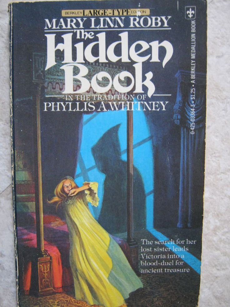 VINTAGE 1970'S GOTHIC MYSTERY SUSPENSE ROMANCE MARY LINN ROBY THE HIDDEN BOOK