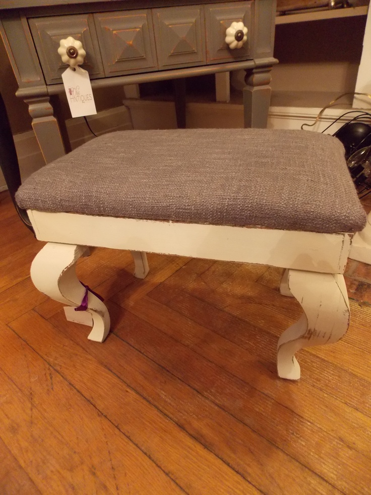 I Really Love It In Gray On This Sweet Little Foot Stool Available At Chic  Antiques