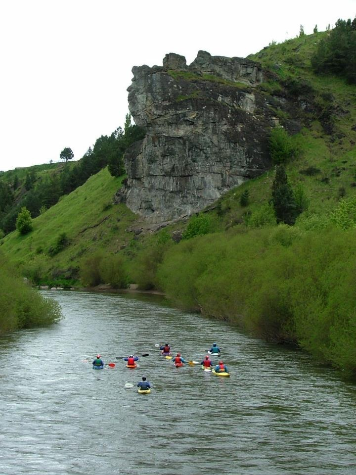 Rio Simpson Coyhaique , piedra del indio