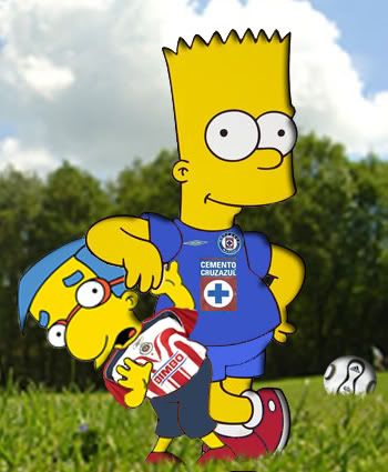 cruz azul football CARTOON | Cruz Azul Simpsons Image - Cruz Azul Simpsons Graphic Code
