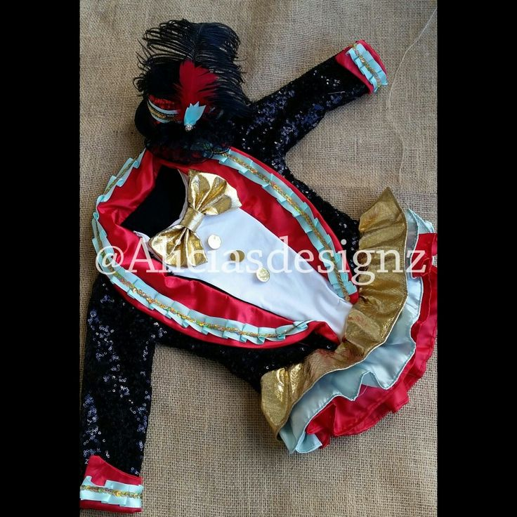 Ringmistress/ringmaster outfit with matching cake smash set for circus birthday party with matching mini top hat black red teal & gold for ordering email aliciasdesignz@yahoo.com can be made in any color you like . Shipping is available!!
