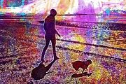"""New artwork for sale! - """" Beach Dog Corgi Ocean Sand Sea  by PixBreak Art """" - http://ift.tt/2vstDBS"""