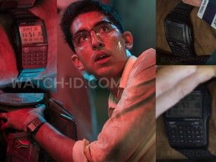 Dev Patel wears a Casio Databank DBC-32-1AES in the movie Chappie.