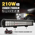 "4D CREE PK OSRAM 20""INCH 210W LED WORK LIGHT BAR COMBO LAMP 4WD DRIVING OFFROAD"