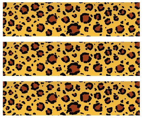 Safari leopard print edible cake border decoration by for Animal print edible cake decoration