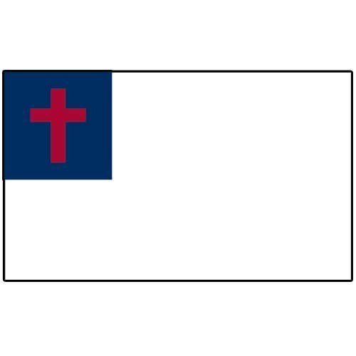 "Christian Flag 12in x 18in Stick by US Flag Store. Save 38 Off!. $2.10. Made Outside of the US. A Quality Printed Flag with Sewn Edges. Low Cost Shipping Available!. Mounted on a 24"" Wooden Stick with a Spear Tip. Christian Flag. High quality Christian Flag 12 x 18 inch, mounted on a 24 inch wooden stick. This state flag is made from polyester and printed in bright colors. The flag is attached to the stick with a sleeve and not staples. Each flag is individually sewn around t..."
