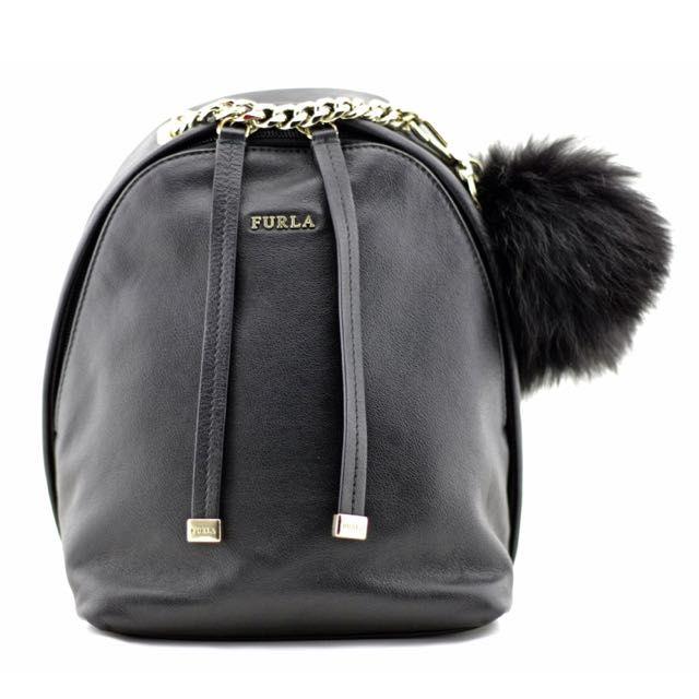 Furla Spy Bag Onyx Black Mini Backpack on Carousell