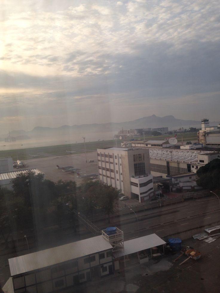 View from hotel Santos Dumont AirPort  Rio de Janeiro - RJ
