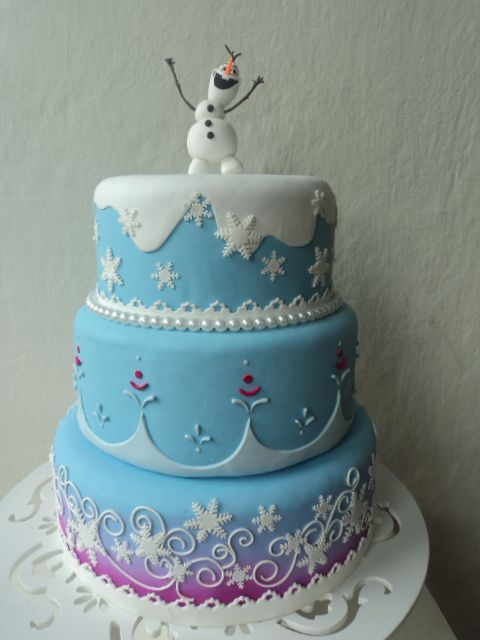 disney frozen birthday cake with olaf prob with just the top layer and - Frozen Halloween Decorations