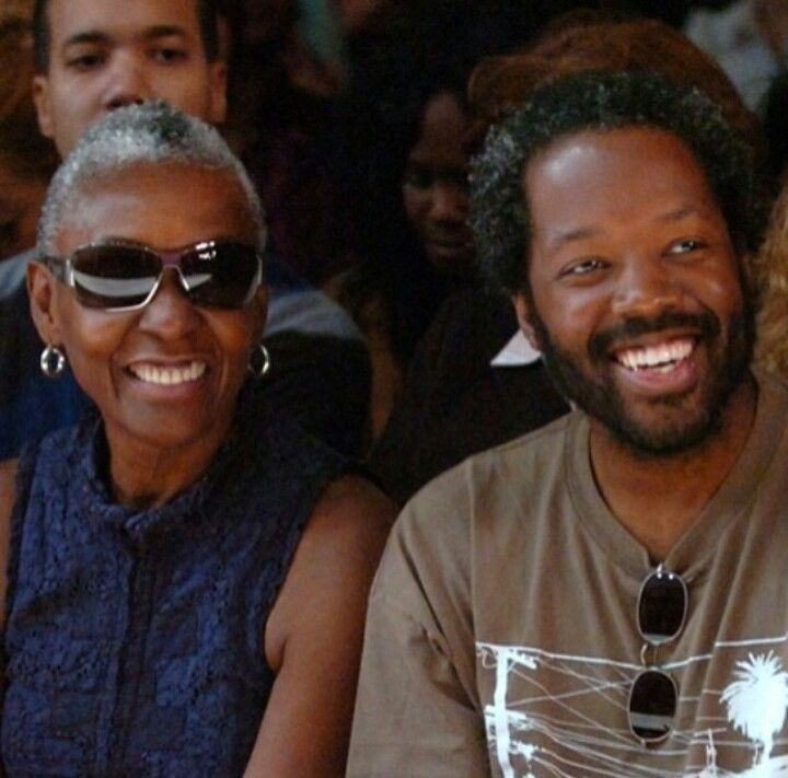 Bethann Hardison, casting director and legendary supermodel of the 1970s and actor and her son Kadeem Hardison