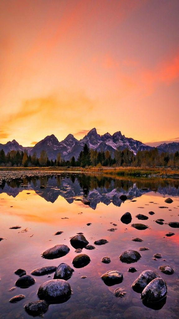 Mountain-Lake-Sunset-iPhone-6-wallpaper.