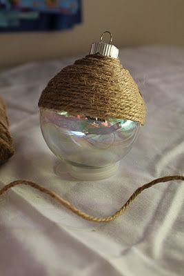 Twine Wrapped Ornie - Turtles and Tails: (More) Homemade Ornaments