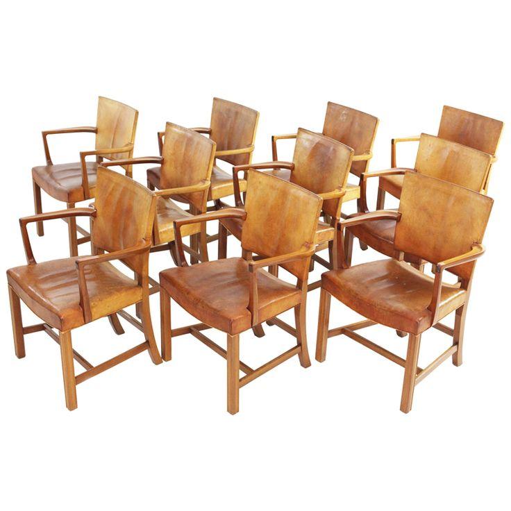 Kaare Klint Armchairs Set Of Ten