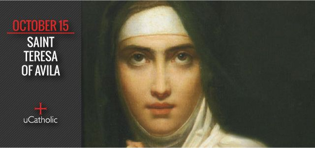 Saint Teresa of Ávila, Doctor of the Church, also called Saint Teresa of Jesus (1515–1582) was a prominent Spanish mystic, Carmelite nun, and writer of the Counter Reformation, and theologian of contemplative life through mental prayer. She was a reformer of the Carmelite Order and is considered to be, along with John of the Cross, a founder of the Discalced Carmelites.