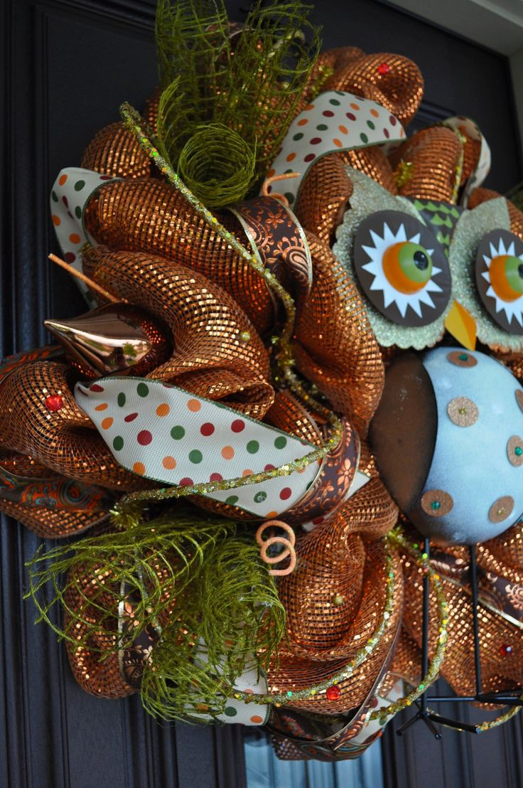 Fall Owl Wreath...Fall Wreath @Jill Meyers Telford for your front door. I'll help you make it.