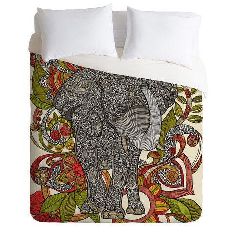 Valentina Ramos Bo The Elephant Duvet Cover