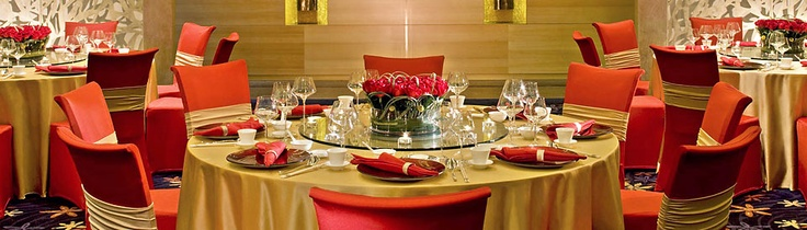 ELEGANT table setting ideas for round table of ten | Hotel Wedding Venue at the JW Marriott Hotel Shenzhen