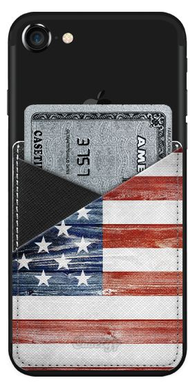 Casetify iPhone 7 Saffiano Leather Phone Wallet - American Wooden Flag - Saffiano by Nicklas Gustafsson  #usa #america #american #flag #wooden #wood #4th #4thofjuly #independenceday #patriot #iphone #smartphone #samsung #wallet #saffiano