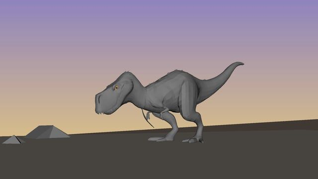 A little animation test i did for myself. Wanted to see if a t rex could walk as a chicken :)    Thanks to Frederik Storm (http://www.frederikstorm.com) and his at that team crew at the Animation Workshop, for letting me use his t-rex rig from their school project.  Reference i used from youtube: https://youtu.be/Zkhov9pLYBM