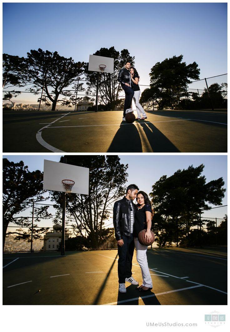 Basketball court engagement photos | UMeUsStudios.com