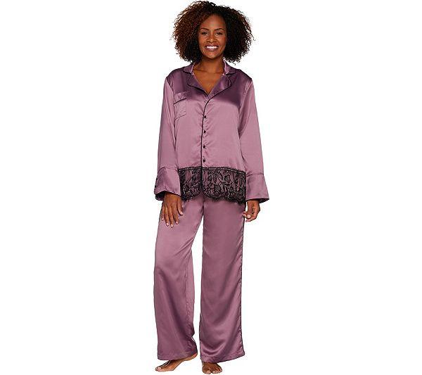 http://www.qvc.com/Casa-Zeta-Jones-Faux-Silk-Pajama-Set-with-Lace-Trim-and-Gift-Box.product.H213868.html