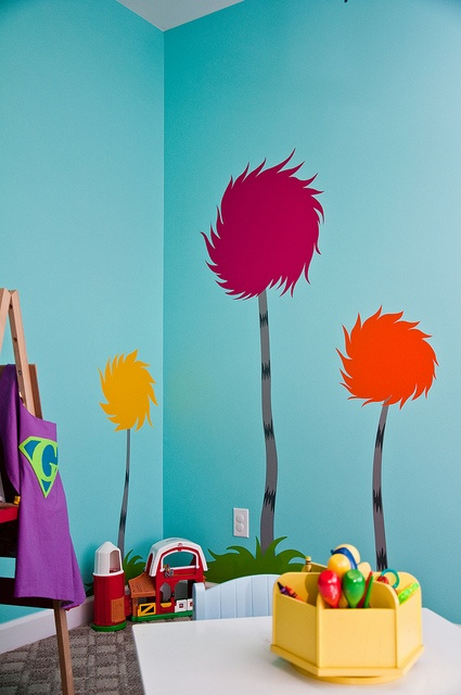 Playroom makeover - stage one - the Truffula trees