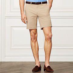 Cotton-Blend Chino Short - Purple Label Shorts - RalphLauren.com