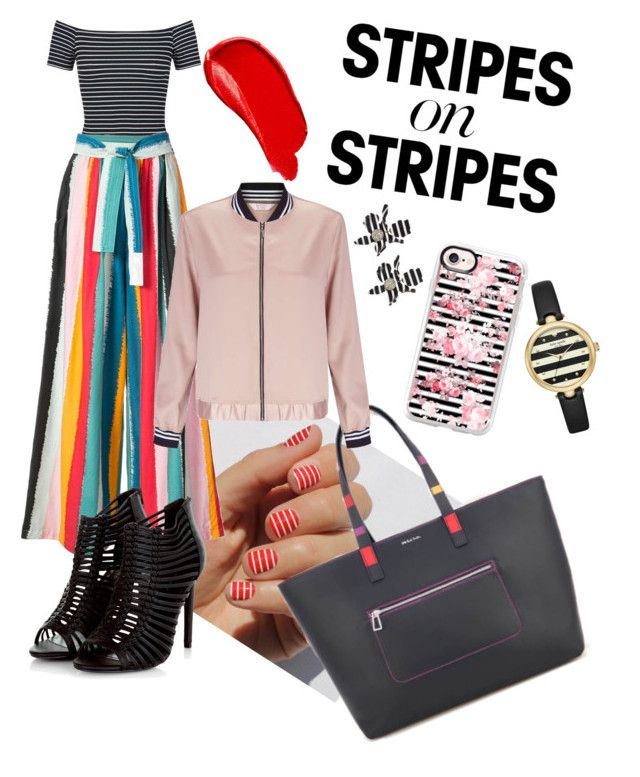 """""""Stripes for days"""" by amanda-barrett on Polyvore featuring Burberry, SoGloss, Kate Spade, Miss Selfridge, Tome, Casetify and Lele Sadoughi"""