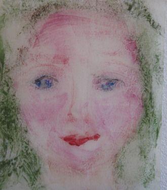 "Saatchi Art Artist Rita Lamontagne; Printmaking, ""La belle mauve"" #art"