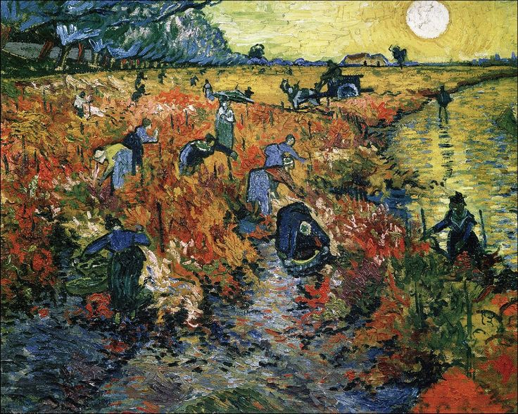 Красные виноградники в Арле   The Red Vineyards near Arles , 1889   Искусство Ван Гога