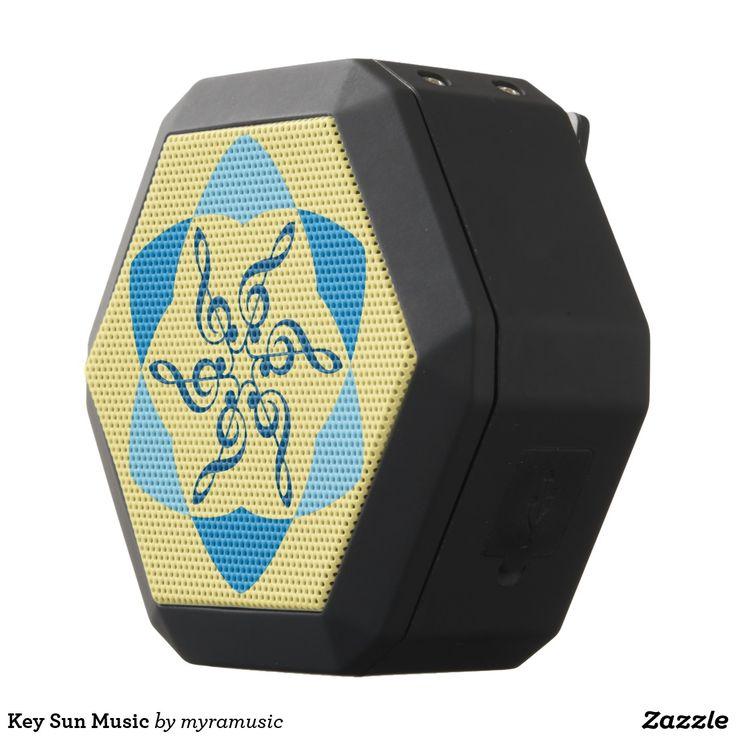 Key Sun Music Black Bluetooth Speaker. Música, music. Producto disponible en tienda Zazzle. Tecnología. Product available in Zazzle store. Technology. Regalos, Gifts. #bocinas #altavoces #speaker #marihuana #cannabis