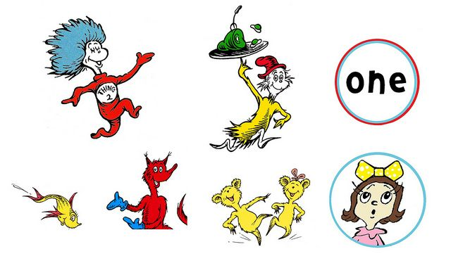 Dr. Seuss Birthday Party  Free Character printable