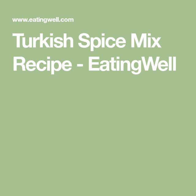 Turkish Spice Mix Recipe - EatingWell