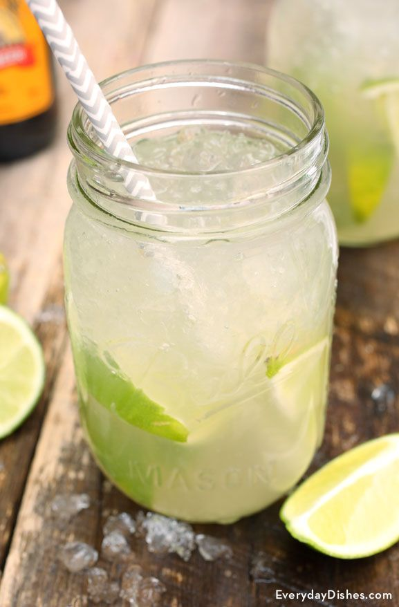 Ginger lime tonic cocktail recipe