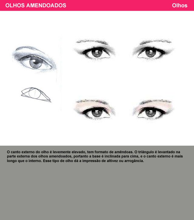 olhos amendoados