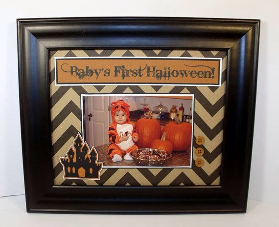 Baby's First Halloween Picture Frame  by memoreasykeepsakes