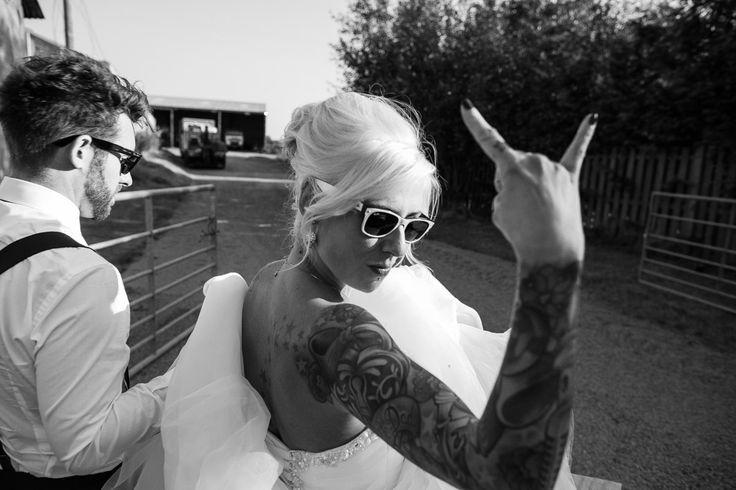 Invitation Inspiration - Heavy Metal Sweet Shop Wedding: Chop  Hales